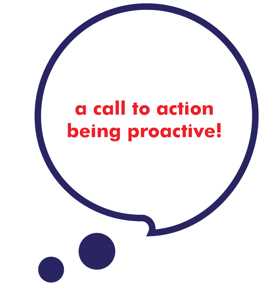 a call to action being proactive